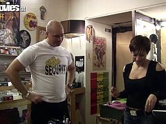 Solid built dude with bald head seduces the manager in the office. He thrusts his small dick in her mouth sucking it deepthroat. Then he eats wet snatch dry. Filthy Fun Movies episode.