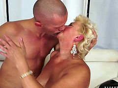Welcome to see how voracious and hot spoiled old ladies can be. Press play and enjoy 21 Sextury xxx clip. Perverted blond fatso with ugly droopy boobs and huge butt lies with her legs stretched up. She gets her old wet cunt drilled with a dildo and then mish tough.