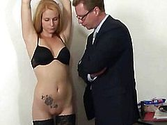 Dirty job interview for 19 yo secretary