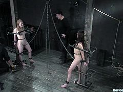 There's wild domination in this BDSM video and the one in charge of it is no other than Isis Love who plays with two submissive chicks and several bondage devices.