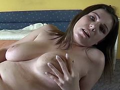 Gorgeous all natural chubby chick Reserl is showing her beautiful big titties and her sexy big ass,Check her playing with those big delicious boobs and fingering her sweet pink pussy.Enjoy!