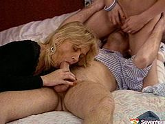 Dirty bitches are fucking dirty in FFM threesome sex video. Ugly girl getting her pussy eaten while sitting on a face of thirsty dude. The other girl is busy with his throbbing juices cock.