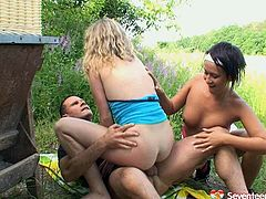 This party has gone wild when skanky teens gone drunk nuts. Reality amateur porn clip with slutty teens fucking hardcore outdoor. One of the girls is hammered deep in tight pink pussy from behind while she licks wet pussy of another horny chick fucking in a dirty group fuck. Meanwhile other girls are banged brutally in doggy position.