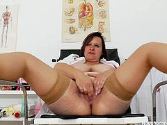 It is really hard to call her BBW because she is indeed big fat woman though not beautiful. She has got huge beef curtains that she demonstrates in close-up shot. Check this naughty and dirty granny in provocative XXX free video.