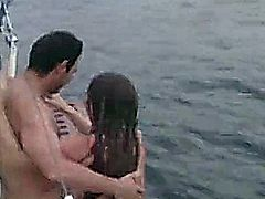 A fun day at the beach with friends just swimming, or shooting arrows at targets