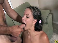 A cute and curious babe Alex Dupree wraps her lips around well hund stu'ds big thick cock and gives a wild blowjob. Don't miss this steamy scene of oral sex.