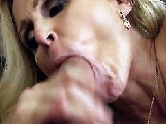 Danny Mountain gets his cock served by this somking hot milf named Julia Ann. She really knows how to treat cocks and make them so big and hard. She has the best sex in this video.