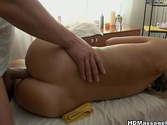 Blonde European hottie gets the massage she wants and the fuck she desires form her horny masseur in this free sex movie.