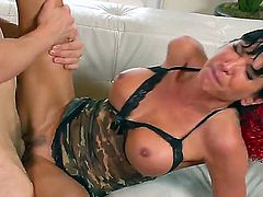 Lezley Zen loves having her wet cunt licked before she takes a ride on a big, throbbing cock