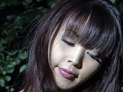 Marica Hase is one petite attractive asian girl. Totally naked exotic girl with natural tits and neatly shaved pussy gets tied up in hew woods. Watch curious guy make her helpless.