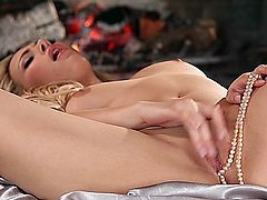 Masturbating hot blonde girl