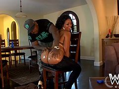 Sensual black baby Anita has a big bubble booty, just the way we like it here at Wcp! She taunts with her sexy ass and then goes inside, where Rico gives her his oily special treatment. Anita gets her ass massaged with oil and then her panties are pulled down, wonder why?