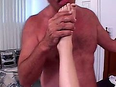 Sexy hairy milf playing and fucked