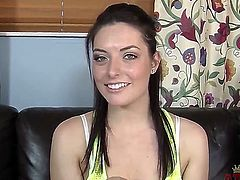 Nikki Lavay,  a self admitted amateur, sits on the casting couch, nervously fidgets about, then puts on quite the spectacular show. What a twist! Oh, but I gave it away ....
