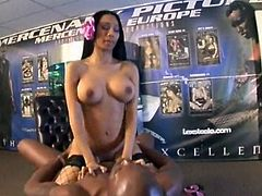Tai Luvs big tits tempt Lexington Steele into filling her mouth up with cock meat and cum. But not before he plunges his mighty schlong as deep into her pussy as she can take it. Watch his cock meat glisten with her juices until hes pouring cum