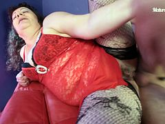Take a look at this hardcore video where a kinky mature BBW has her wet pussy pounded by a horny guy with a hard cock.