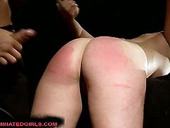 Safira White is all tied up in the dungeon and she can't go anywhere. She got her tight pussy stretched by his big black cock!