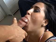 Valerie Kay enjoys good fucking before having her sweet face filled with warm jizz