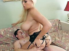 Naughty Anthony Rosano got his dick sucked up hot blonde chick Bridgette B. and thanked her with cunilingus and got pleased with titjob.