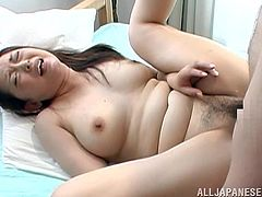 Horny Japanese girl gets her tits and pussy licked. After that this chubby girl gets her pussy fucked hard. Later on she gets her mouth filled with cum.