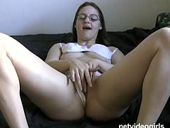 Well, if you wanna enjoy a great transformation of modest nerd into a cock hungry whore, then press play and watch Net Video Girls sex clip. Spoiled pale chick with ugly small tits has nothing against sucking a delicious lollicock for sperm on cam.