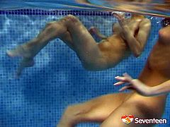 Appetizing lesbians know how to make sex more fun and exciting that's for sure! Hot-tempered girls are swimming naked and playing kinky lesbian games. Dude, there's plenty of lesbo action still to come in this hot sex video. Press play and enjoy the action.