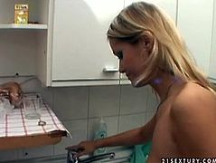 Naughty blonde girl with filthy sexual fantasies love really kinky sex games. So she squats down in the bath letting the guy piss on her tits. She is smoking cigarette enjoying warm spurt of urine covering her tits.