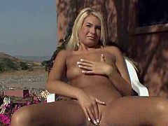 Superhot 19 year old Sasha Von having classic solo orgasm outdoor.Watch how she spreads her legs and gives nice closeup for her tight clean pussy while she rubs her clit and fingers herself in this outdoor video
