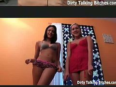 These dirty talking bitches tell you how to masturbate and how to worship their asses as you jerk off.