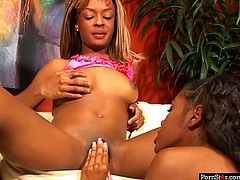 Two ebony lesbos presented in Pornstar sex clip are hot like hell, so don't burn yourself. Zealous chicks with droopy tits go wild tonight. Already naked chicks with rounded big asses have a dildo and desire to polish each other's wet pussies for multiple orgasm.