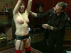 Horny chicks get tortured and then toyed in hot BDSM video