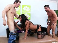 Milf Lisa doesn't joke around when it's about fucking. She's an experienced mommy with a smoking hot body and demands only big hard cocks in her big booty. The brunette mom reveals her superb body and gets that ass licked before receiving a big dick in her anus and one in the mouth. Is she gonna get cum filled?
