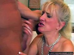 Gosh, this unfaithful and shameless blond oldie goes surely nuts today. Obese slut with wrinkled big ass and droopy tits is a great expert in giving a solid blowjob to a strong fresh cock. Don't you capeesh? Then check her out in 21 Sextury xxx clip and jerk off till you jizz.