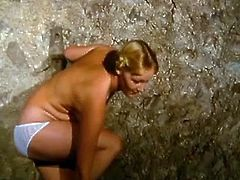 Check out this vintage german movie, where hot blonde got her tight pussy stretched in the farm! She enjoys every inch and can't get enough of it!