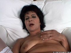 Watch three voluptuous lesbians are going wild with one dildo toy. Hussy mature bitches teach one naughty amateur girl fucking skills.