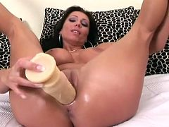 It's time to wankerbate along with steamy 21 Sextury xxx clip. Zealous brunette is rather pretty. Long legged slut is flexible enough to turn masturbation into a sex adventure. Voracious chick fucks her wet pussy with a dildo and groans loudly of delight.