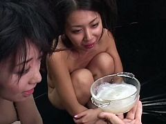 Japanese slaves are forced to eat sperm