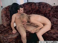 Watch a vicious blonde milf devouring her man's cock before he pounds her sweet pink pussy into a mind-blowing orgasm.