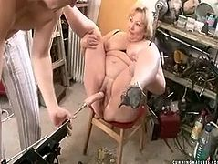 Trashy aunty with rounded body is letting perverted dude do with her cunt whatever comes in his filthy mind if only he brings her climax. So he goes wild and wicked. Check out what exactly she experiences in this outrageous porn video.