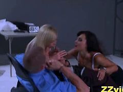 Lisa Ann and Nikki Benz seduce a dirty cop