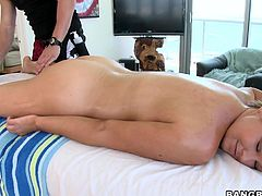 blonde milf could not control her lust.