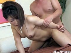 The elegant Japanese MILF is going to please her husband's cock after they went to a party. She jerks him off and gets ready for sex.