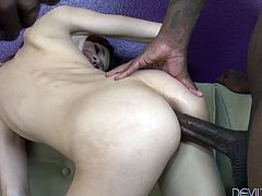 Sexy white chick prefers sex with cocky black dudes. For this ones she serves two black cocks at the same time. Enjoy steamy interracial sex tube video for free.