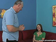 Hot sexy redhead Ashli Orion fucks some lucky old guy