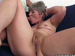 Maagdolina loves young men with hard long lasting dongs. She doesn't mind if her sex partner is half of her age. Instead it turns her on. So she greedily sucks the dong. Later she gets on top jumping as fast as she can.