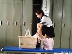 This Japanese school girl passed out and she ended up getting fucked by a classmate after the janitor told him what a great opportunity he had.