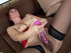 Check out this kinky solo scene where this mature whore sticks her own fucking fist in her fucking wet-ass aged hairy pussy.