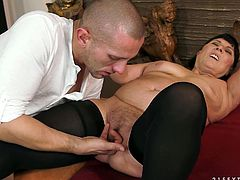 Perverted mature woman seduced young guy for sex. He licks her belly and suckles saggy tits. Then he plays with her hairy cunt. Later she sucks his dong deepthroat. Naughty old young porn video.