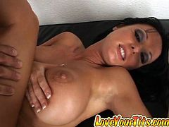 Big tittied Melissa Lauren gets her shaved pussy destroyed