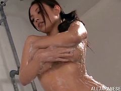 THis sender and busty Japanese angel Mako Oda got some shapes that we all love! Honey is naked and so hungry for some penetration in the bath!
